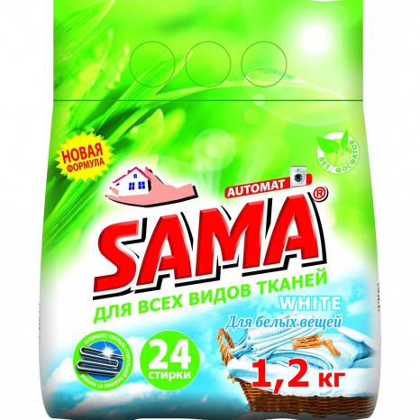Стиральный порошок SAMA бесфосфатный автомат White 1,2 кг