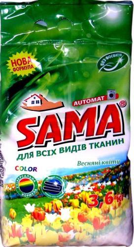 Стиральный порошок SAMA бесфосфатный Весенние цветы 3,6 кг