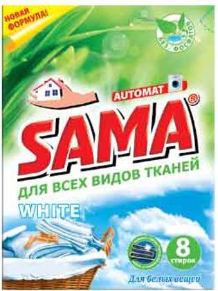 Стиральный порошок SAMA бесфосфатный автомат White 400 гр