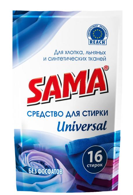Средство для стирки  ДОЙ-ПАК SAMA Universal для хлопковых, льняных и синтетических тканей 800 мл