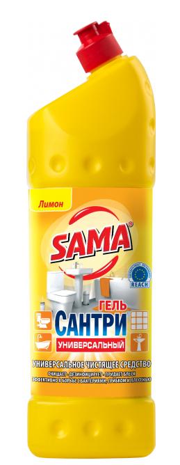 Универсальное чистящее средство гель SAMA Сантри Лимон 1л