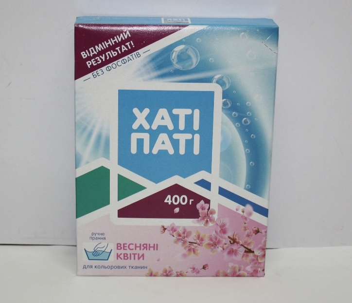 Стиральный порошок  ХАTI ПАТI для ручной стирки Весенние цветы 400 гр