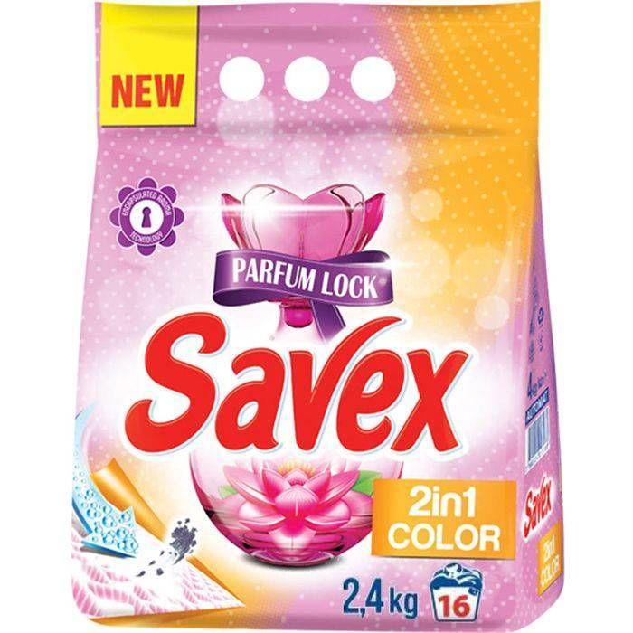 Стиральный порошок Savex автомат Parfum Lock 2in1 Color 2,4 кг