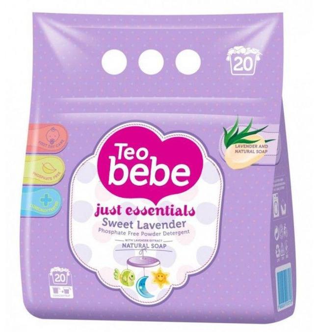 Стиральный порошок Тео bebe для детских вещей Just essentials Sweet Lavander 2.4 кг