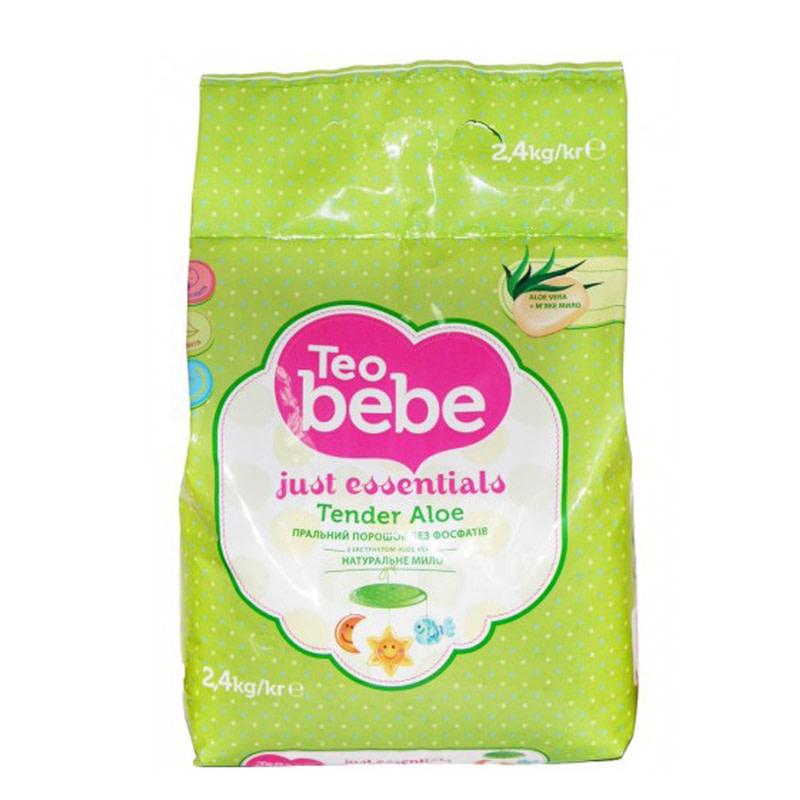 Стиральный порошок Тео bebe для детских вещей Just essentials Tender Aloe 2,4 кг