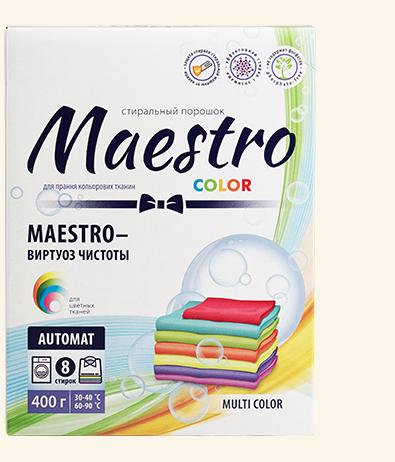 Стиральный порошок Maestro автомат Multi COLOR 400 гр
