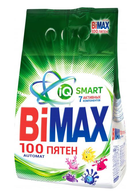 Стиральный порошок BiMAX 100 пятен автомат мягкая упаковка 1,8 кг