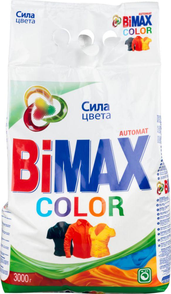 Стиральный порошок BiMAX Color автомат мягкая упаковка 3 кг