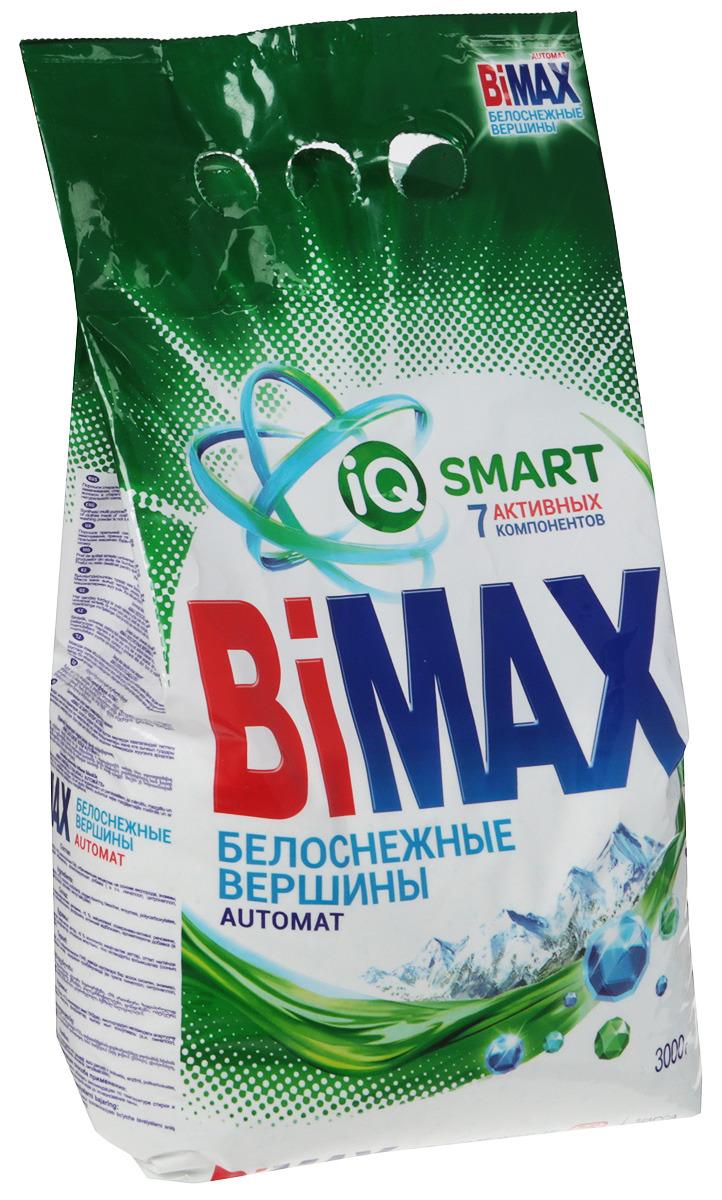 Стиральный порошок BiMAX Белоснежные вершины автомат мягкая упаковка  3 кг