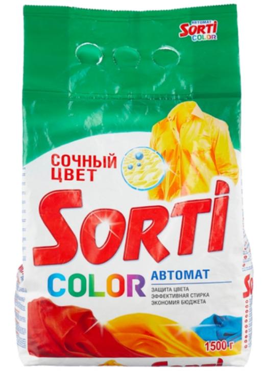 Стиральный порошок Sorti Color автомат мягкая упаковка 1,5 кг