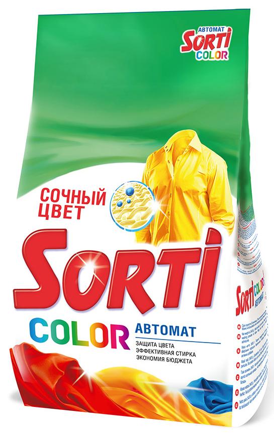 Стиральный порошок Sorti Color автомат мягкая упаковка 3 кг