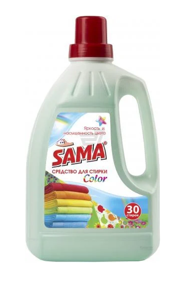 Средство для стирки SАМА для цветных вещей 1,5 л