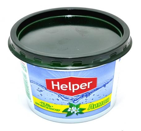 Гель для мытья посуды Helper Лимон (банка) 300 гр