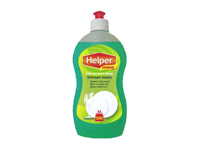 Средство для мытья посуды Helper Еко Зеленый Лимон 495 мл