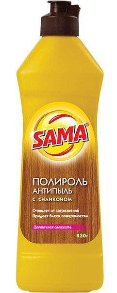 Средство для ухода за мебелью SAMA Цветочная свежесть (Полироль) 430 гр