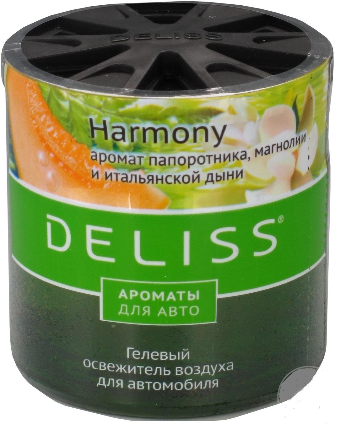 Освежитель воздуха для автомобиля Deliss с ароматом папоротника, магнолии и итальянской дыни 60 мл