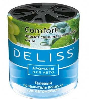 Освежитель воздуха для автомобиля Deliss с ароматом сандала, винограда, мяты 60 мл