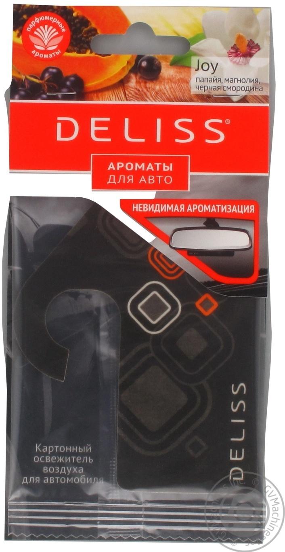 Освежитель воздуха для автомобиля Deliss Картонный Joy (20/180) 8 гр