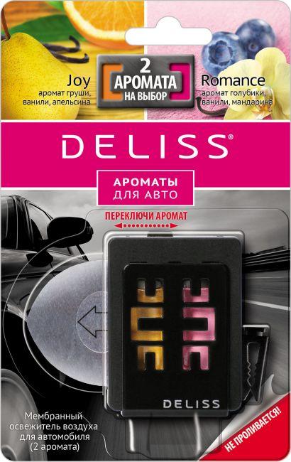 Освежитель воздуха для автомобиля Deliss Мембранный Romance и Joy 2013 4 мл