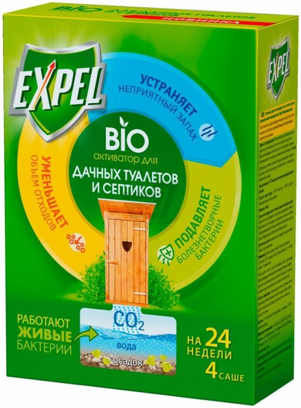 Биоактиватор Expel  для дачных туалетов и септиков 4 саше 75 гр