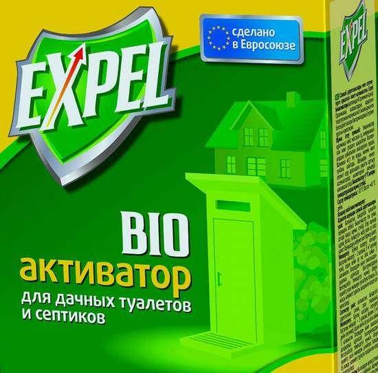 Биоактиватор Expel  для дачных туалетов и септиков в мини прилавке 75 гр