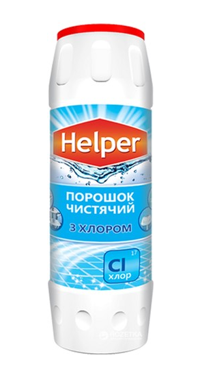 Чистящий порошок Helper с Хлором 500 гр