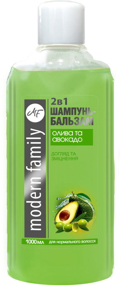 "Шампунь-бальзам ""Олива и авокадо"" Modern Family 1000 мл"