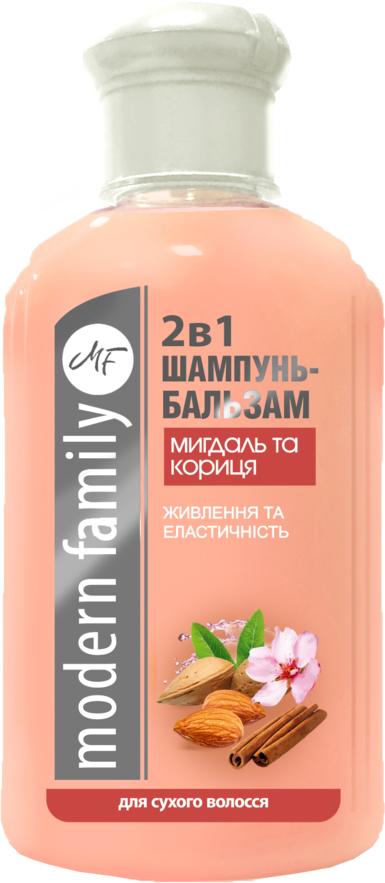 """Шампунь-бальзам """"Миндаль и корица"""" Modern Family 330 мл"""