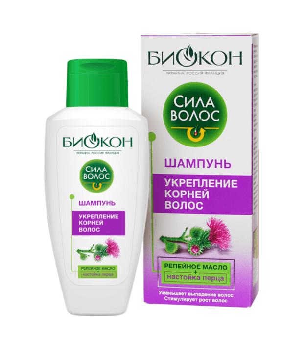 Шампунь Биокон Сила волос укрепление корней волос 215 мл