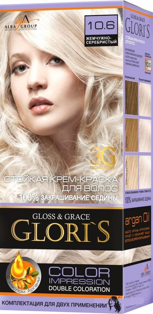 Крем-краска для волос (2 применения) Glori's Жемчужно - серебристый 10.6