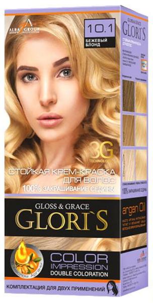 Краска для волос (2 применения) Gloris  бежевый блонд 10.1