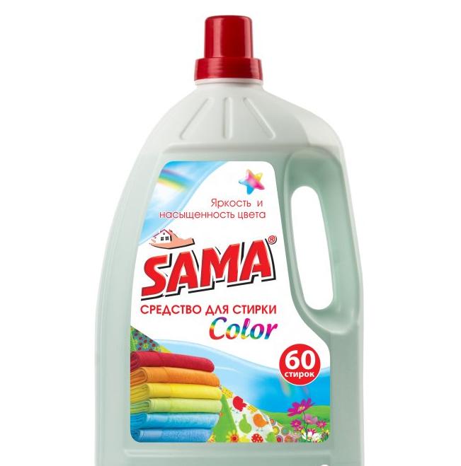 Средство для стирки SАМА для цветных вещей 3 л