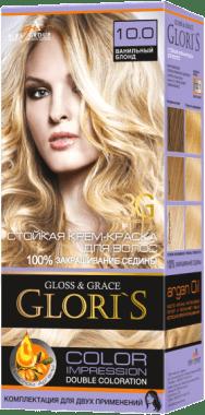 Крем-краска для волос (2 применения) Glori's Ванильный блонд 10.0