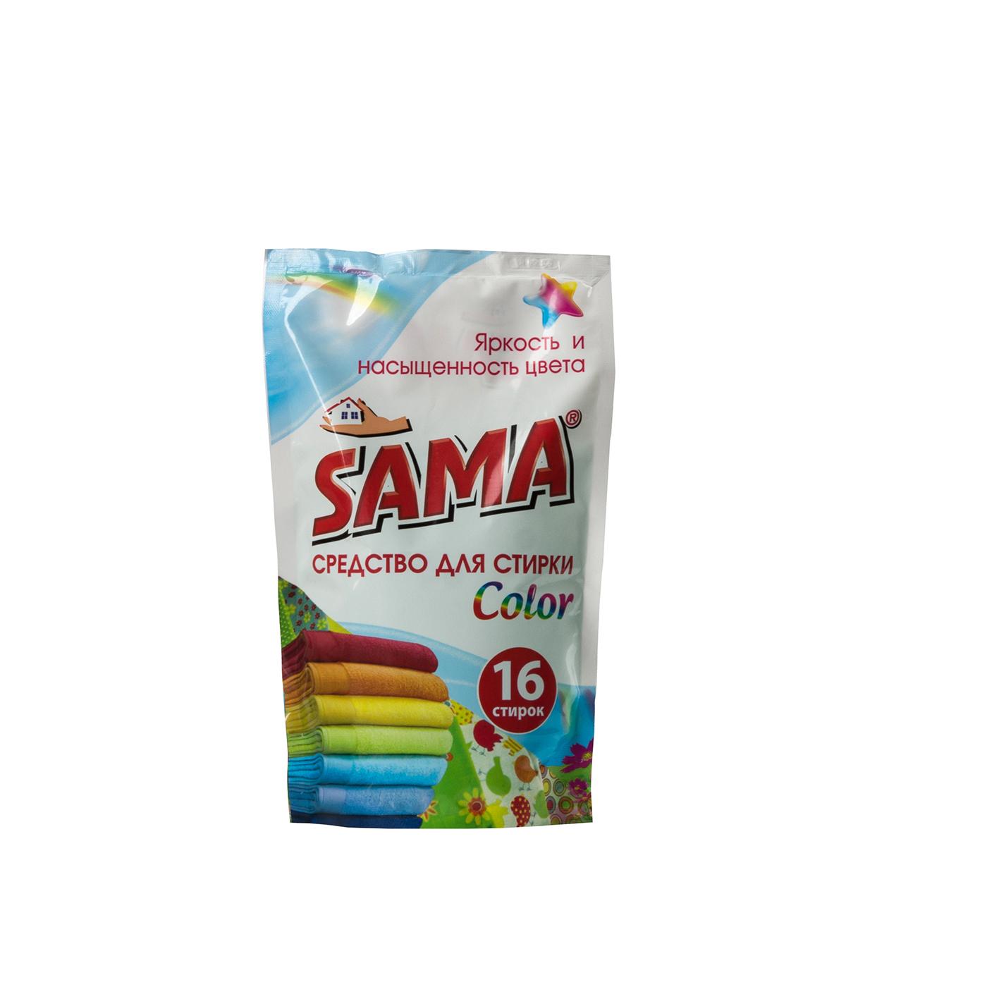 Средство для стирки  ДОЙ-ПАК SAMA  для цветных вещей 800 мл