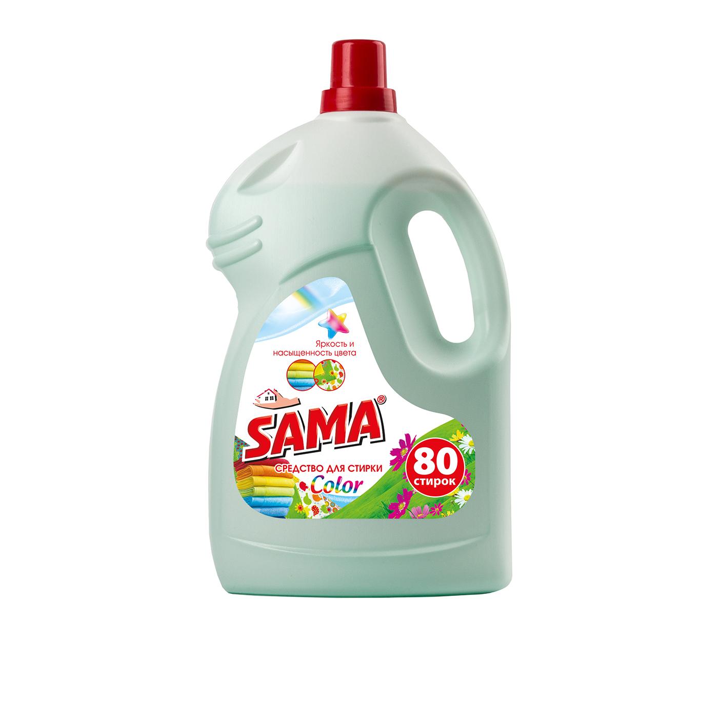 Средство для стирки SАМА  для цветных вещей 4 л