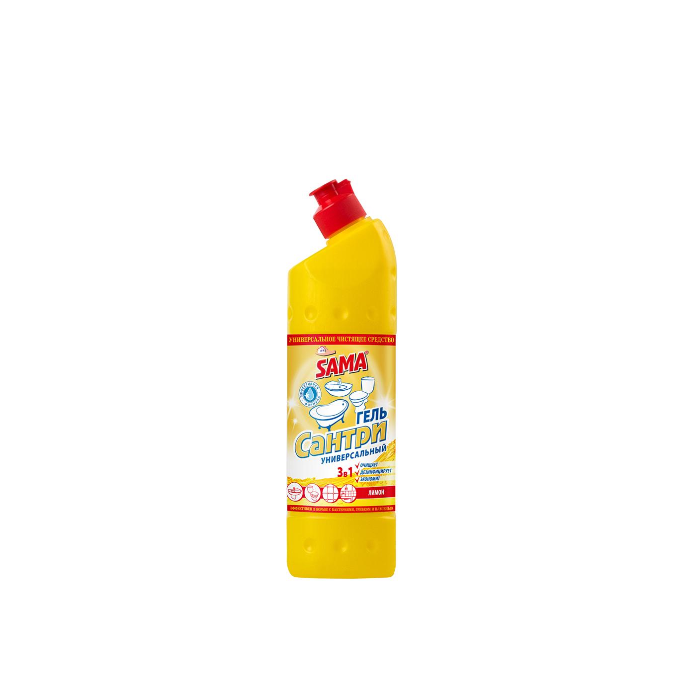 Универсальное чистящее средство гель SAMA Сантри Лимон 500 мл