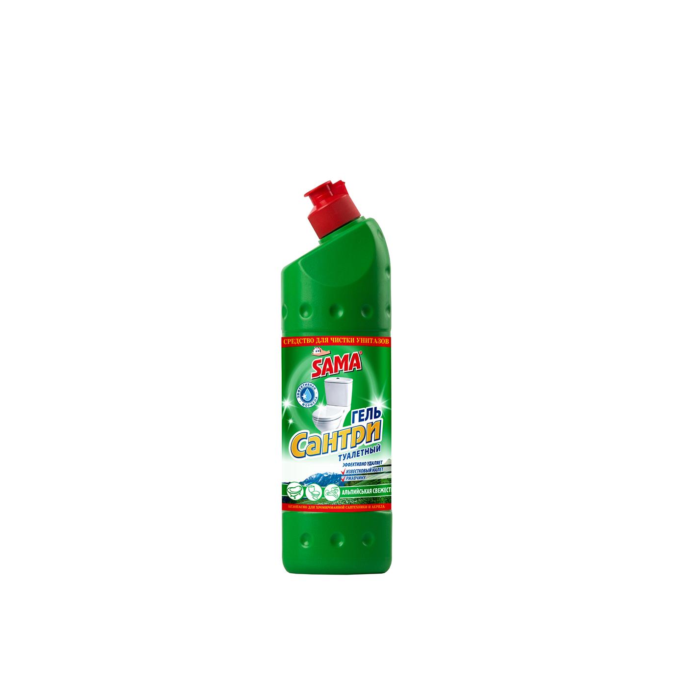 Средство для чистки унитазов гель SAMA Сантри Альпийская свежесть 500 мл